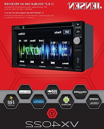 Jensen VX4022 6.2 inch LCD Multimedia Touch Screen Double Di