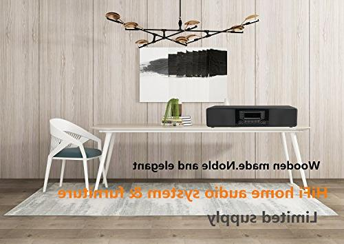 KEiiD CD/MP3 Stereo Hi-Fi Speaker Home Audio Shelf System with Radio Digital Tuner Remote Control USB SD AUX,Soundbar