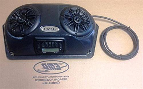 Slim UTV Overhead Stereo Pods With Stereo And Wiring By EMP