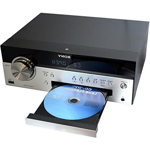 Sony All in Stylish Music System with NFC Bluetooth, CD Tuner Aux + HeroFiber Cleaning