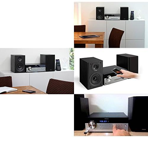 Sony All Stylish Micro System with NFC USB, CD Player & AM/FM Tuner + Aux Cable Cleaning Cloth