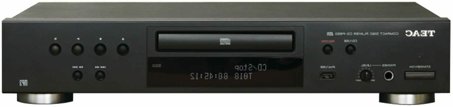 TEAC CD-P650-B Compact Disc Player with USB and iPod Digital