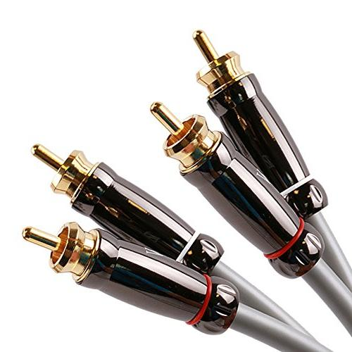 SKW Stereo Audio 2RCA to Male PVC Jacket Y Cable HiFi DVD Equipment Home Theater - Feet