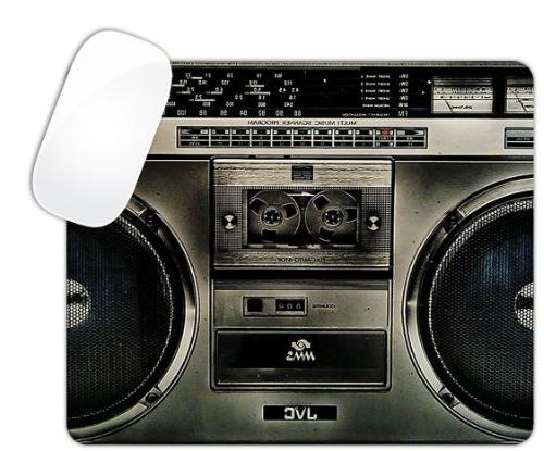 black boombox music stereo system