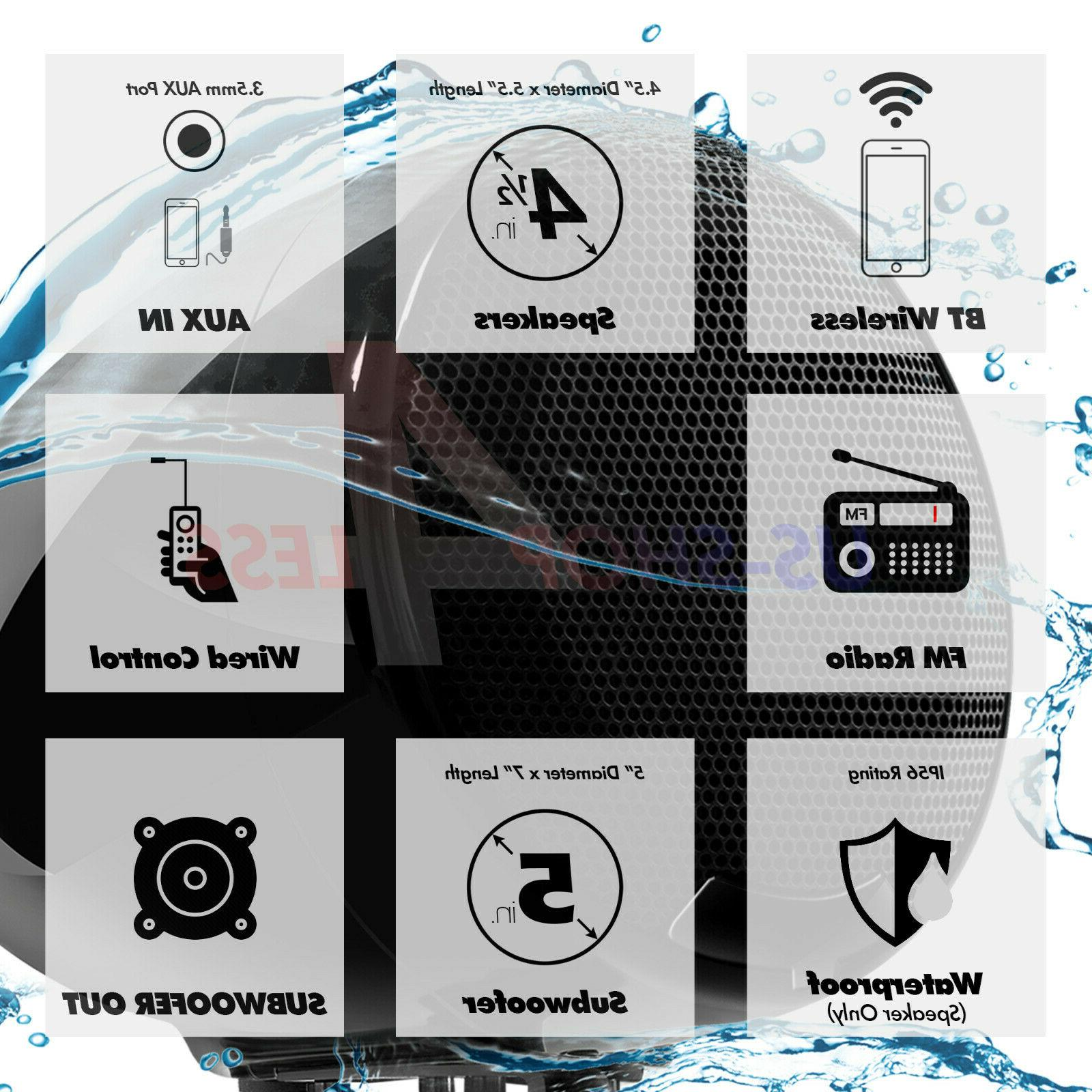 Bluetooth RZR Polaris Speakers Audio 600W Amp System