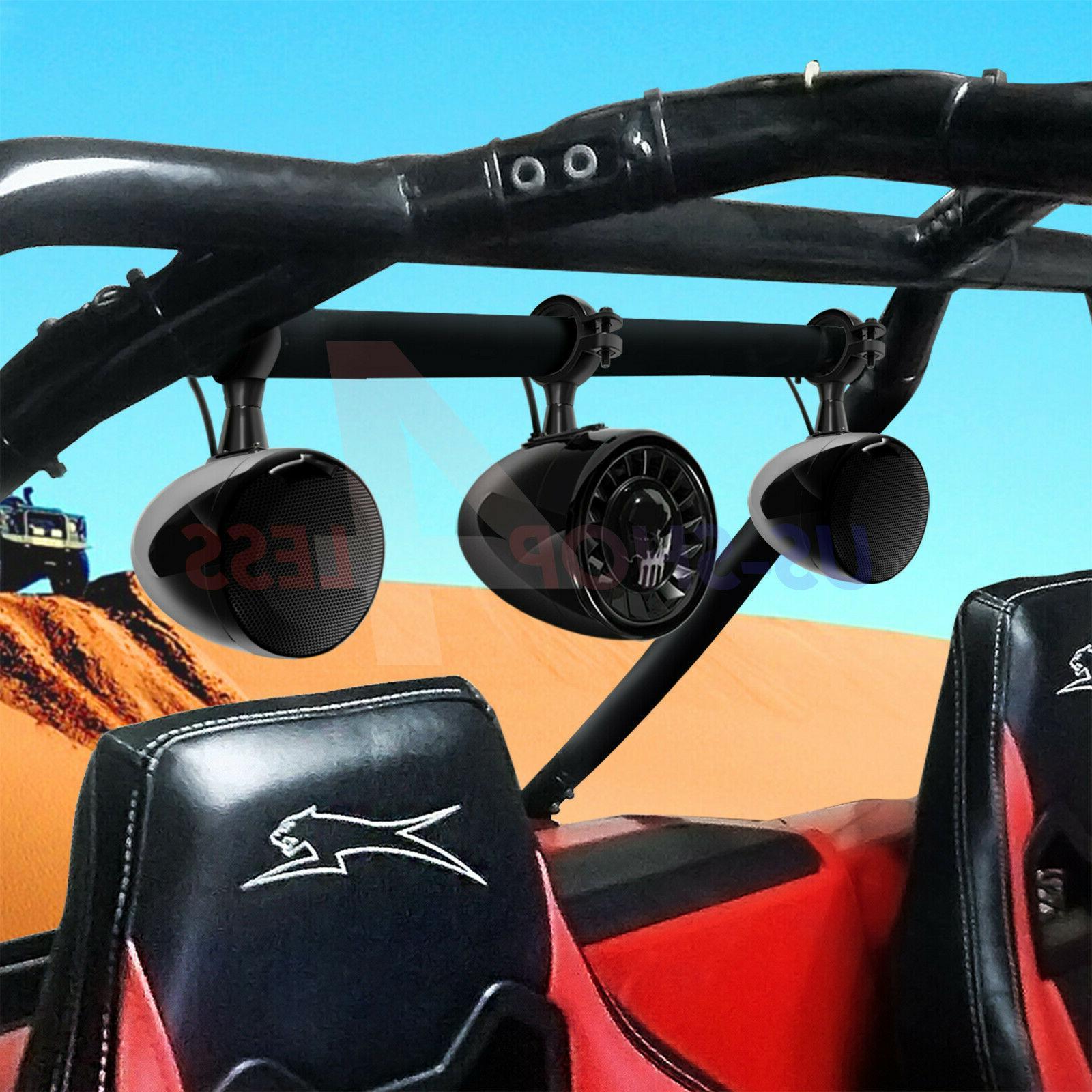 Bluetooth ATV RZR Polaris Stereo Marine Audio Radio System