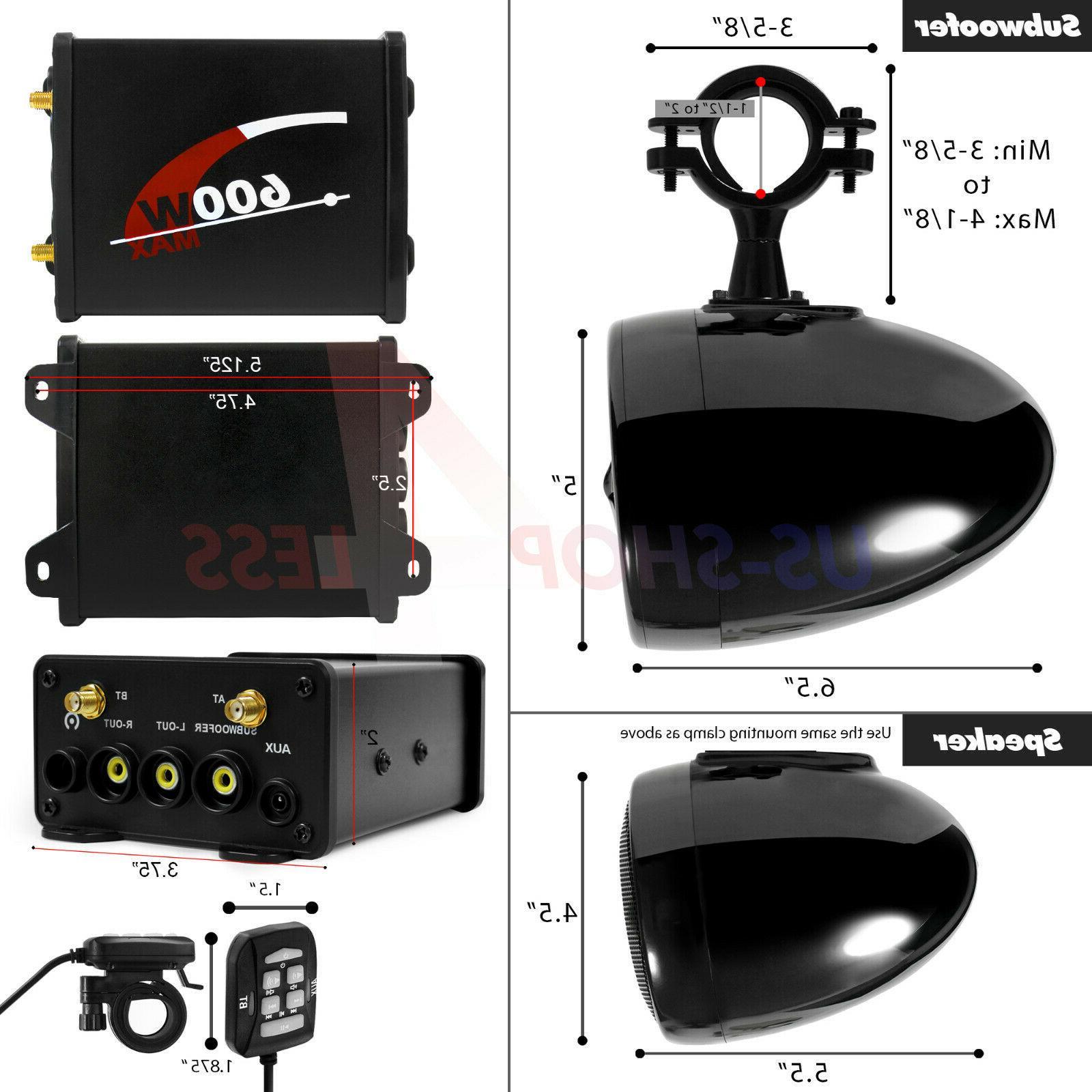 Bluetooth ATV RZR Polaris Audio System