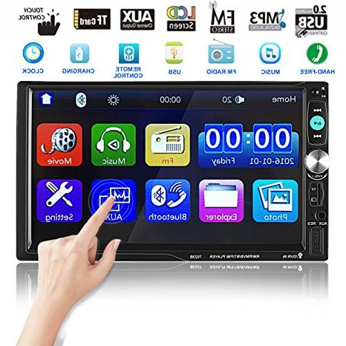 bluetooth car touch stereo audio