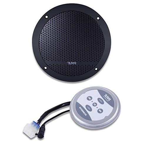Pyle Marine Flush 2-Way Speaker System Range Stereo Sound Dual Dome Waterproof Universal Vehicle Home Aux 3.5mm Input 240 Watts