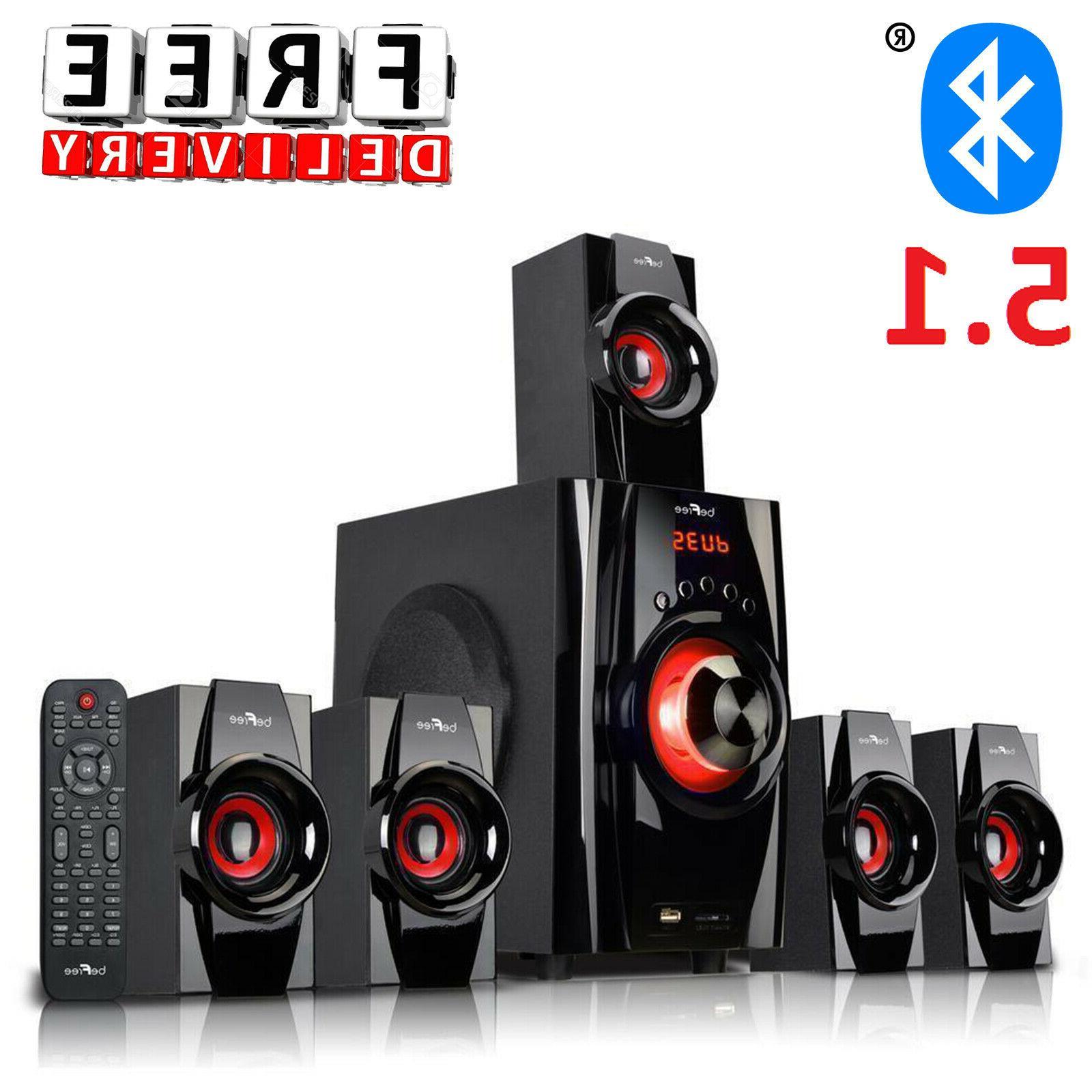 Bluetooth Speaker System 5.1 Home Audio Stereo Bass Sound Ga