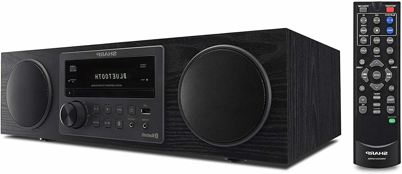 Sharp Bluetooth Vintage Shelf Stereo System CD Player AM-FM