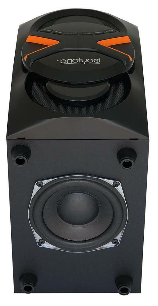 boytone 2.1 Speaker System 60 RMS Wireless - Hz 20 - - Bluetooth - USB - MP3 Player Compatible