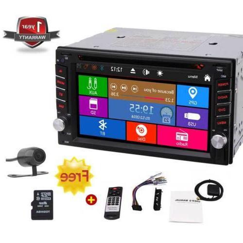 Camera+6.2'' In GPS Navigation Din CD Player