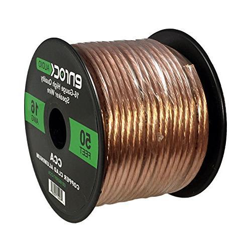 Kenwood 4x JVC 5-1/4 520 Watt Black Audio Coaxial Speakers + Enrock 16-Gauge Wire