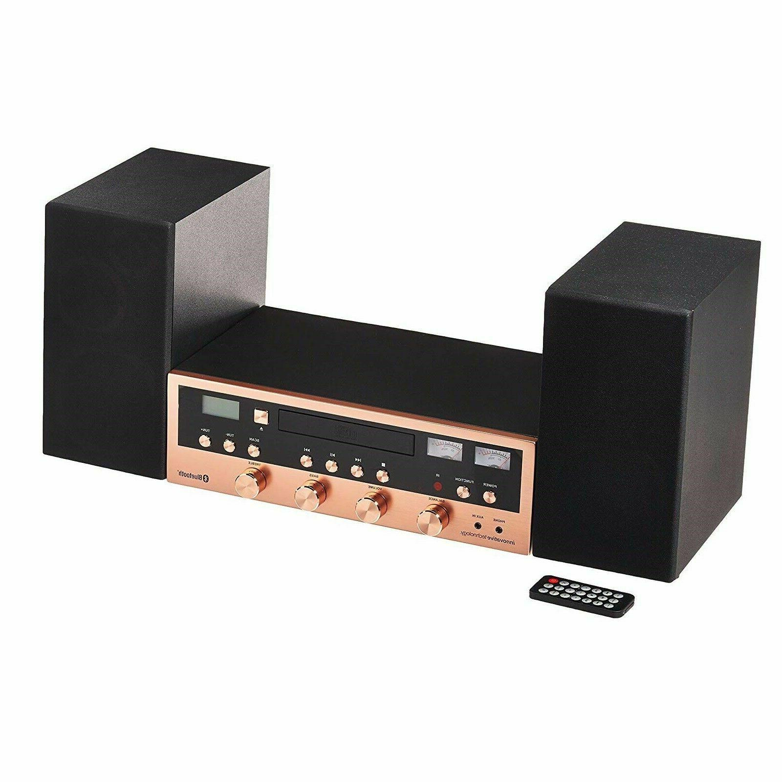 CD Bluetooth Stereo Home FM Radio Headphone Rose
