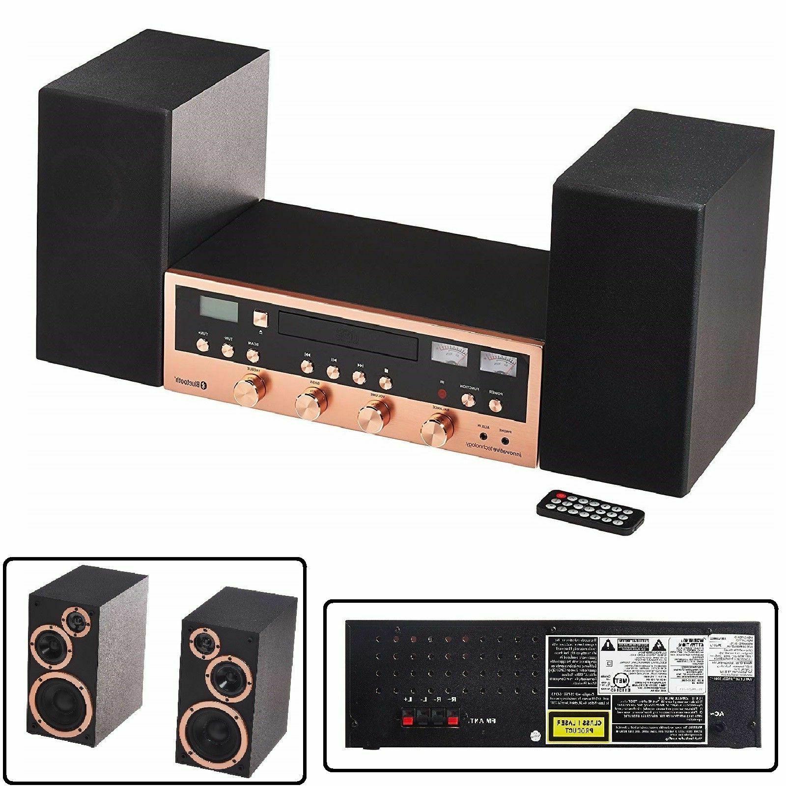 cd bluetooth stereo system home speaker cd