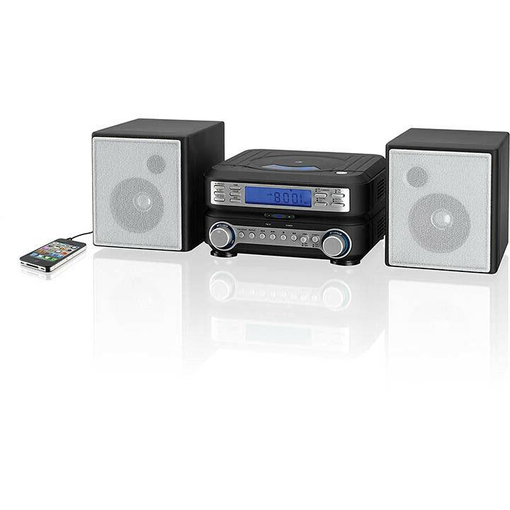 Compact Bookshelf Stereo System AM FM CD MP3