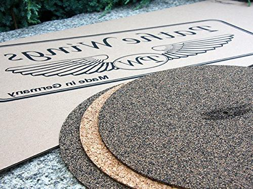 cork black rubber turntable record