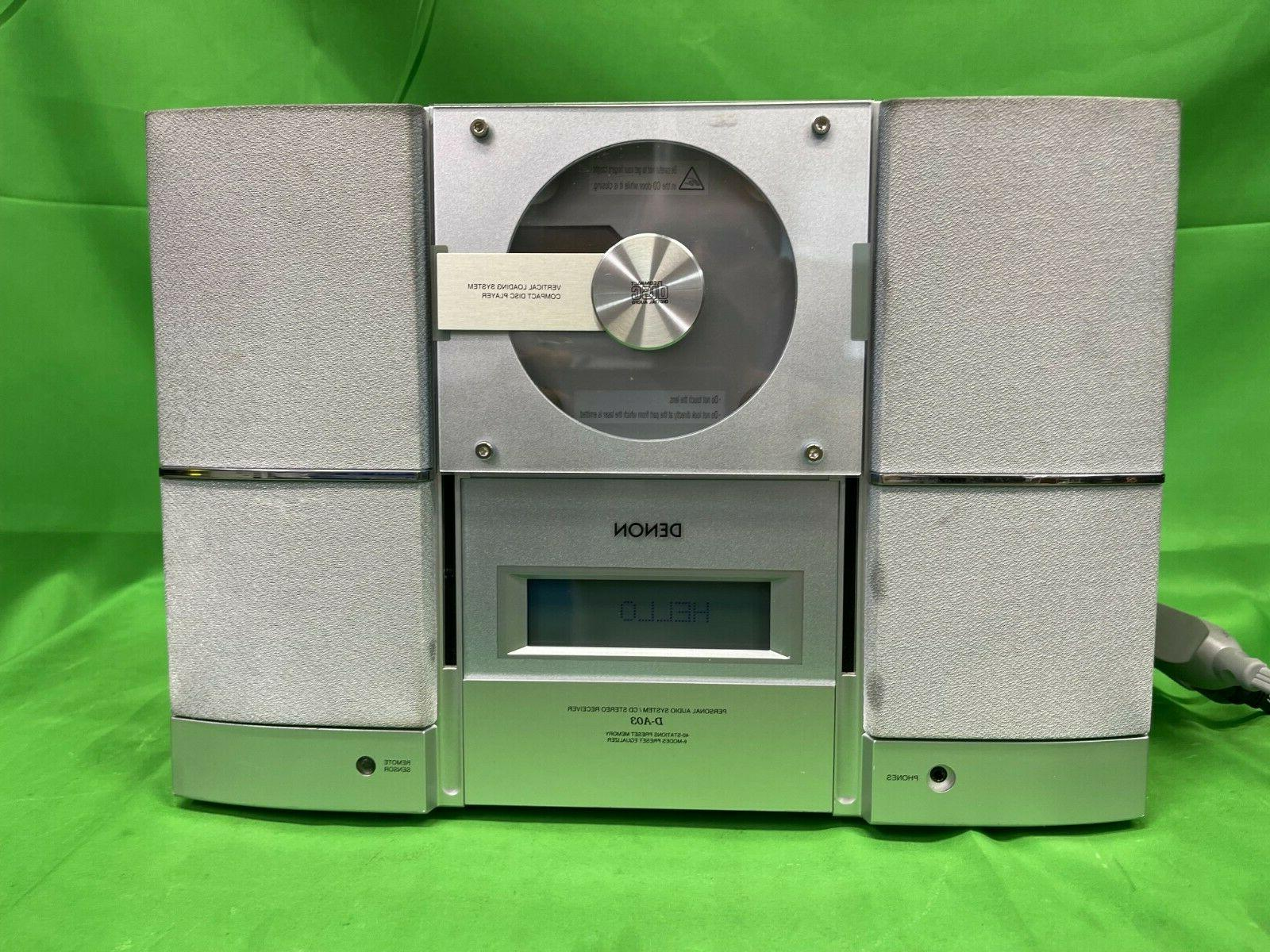 Denon D-A03 Personal Audio System CD Stereo Receiver WORKS &