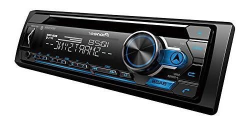 Pioneer Single Din CD Bluetooth USB, Spotify, and Smart Sync with Pair of