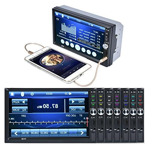 "Carlike 7"" Touch Bluetooth MP5 MP3 Audio Player Radio/TF/ Rear View Remote"