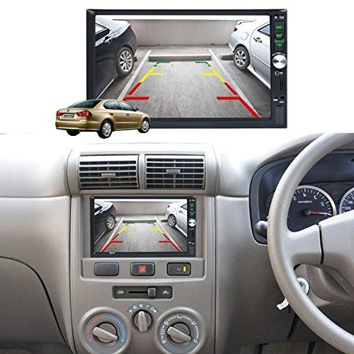 "Carlike 7"" Touch Screen in Bluetooth MP5 MP3 Video Player Radio/TF/ Rear View Camera Remote"