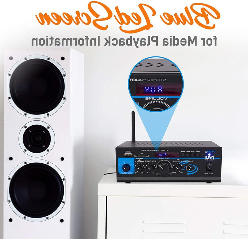 Home Audio Amplifier System 2X40W Dual Channel Mixer Sound Stereo R