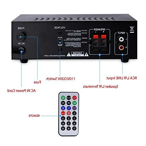 Home Audio Amplifier System - Channel Theater Stereo Receiver Surround w/ USB, AUX, LED, - Speaker, -