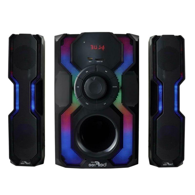 Home Theater Stereo Speaker System Bluetooth 2.1 Channel With Subwoofer