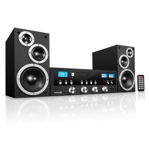 Classic CD Stereo Audio System Bass Sound Speaker With Bluet