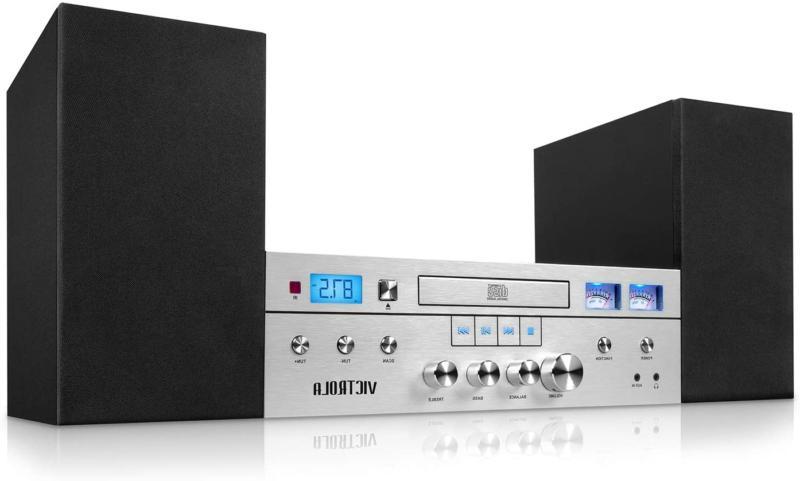 Innovative Technology Victrola Bluetooth CD Stereo System, S