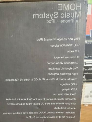 Sylvania Iphone Dock Cd Mini System SIP-1527
