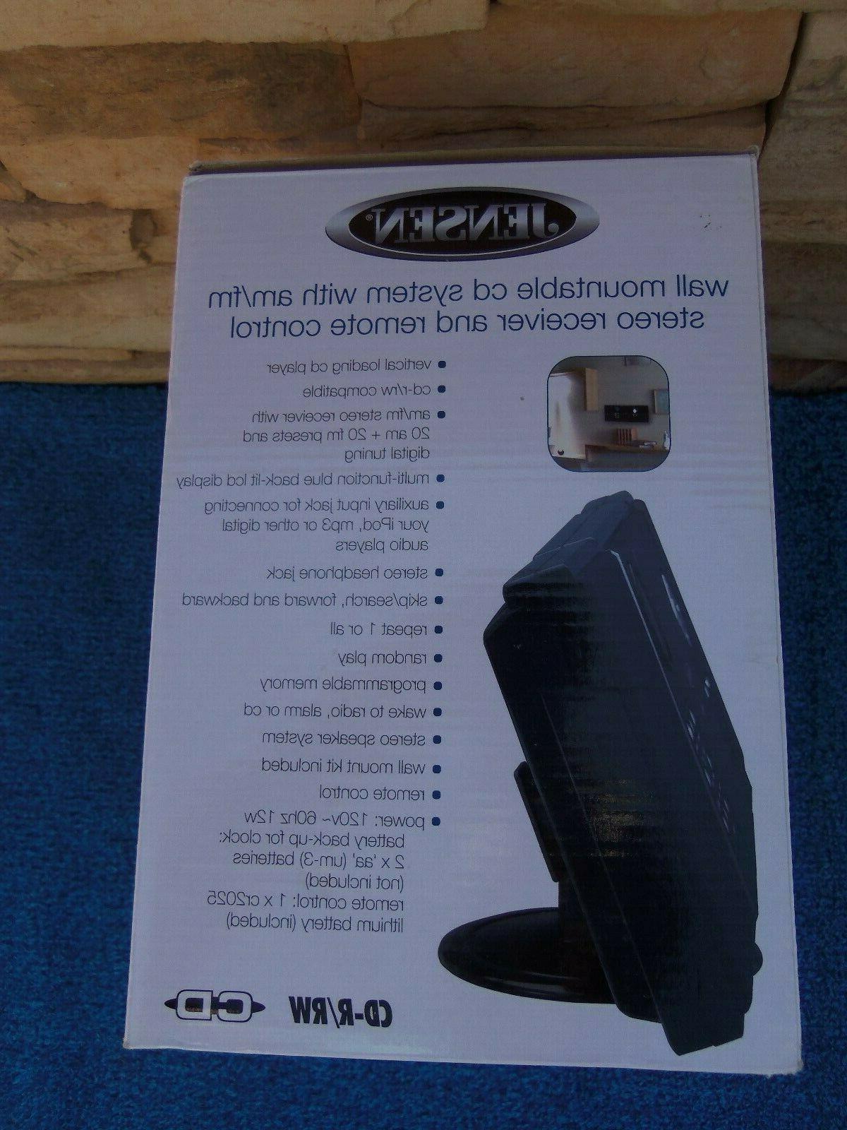 Jensen JMC-180 Wall-Mountable CD AM/FM Receiver