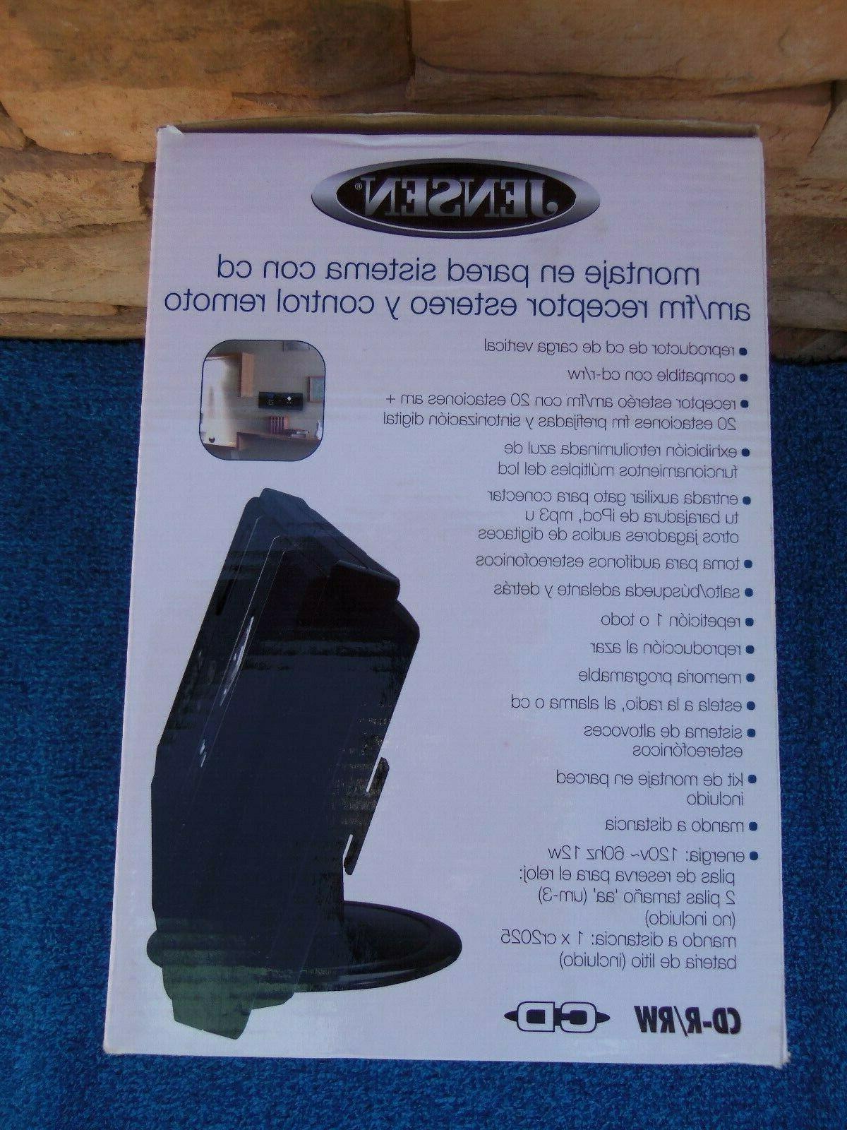 Jensen JMC-180 Wall-Mountable CD System AM/FM Stereo Receiver