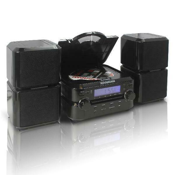 Magnavox Mm435 Black 3Pc Cd System Am Radio