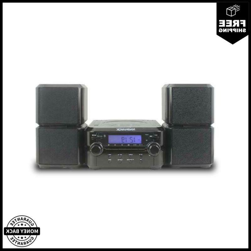 magnavox mm435 black 3pc cd shelf stereo