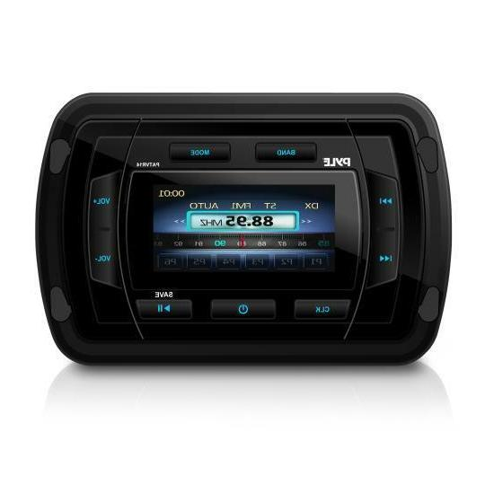 Pyle Marine Bluetooth Audio/Video Receiver, Water Resistant