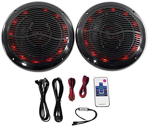 "Rockville Marine Bluetooth 8"" Wakeboards+ LED Amp"