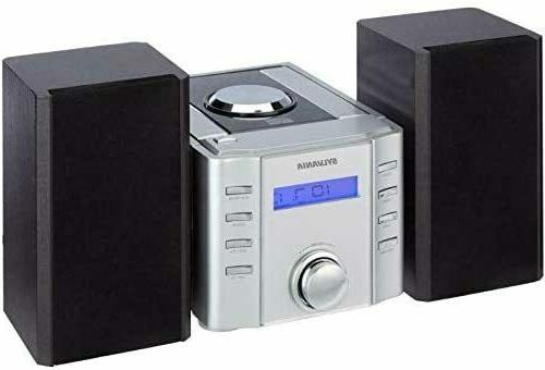 New Sylvania Bluetooth Super Bass Stereo Micro System CD Pla