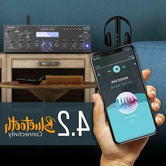 Pyle Bluetooth Stereo Receiver System with FM Radi