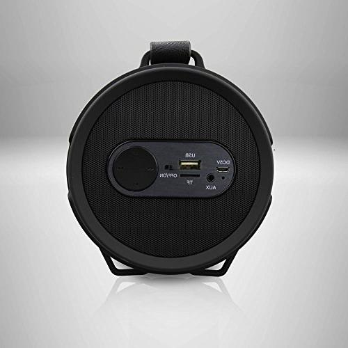Pyle Speaker, Boombox, Bluetooth Rechargeable Surround Sound, Amplifier, Radio, System in Black