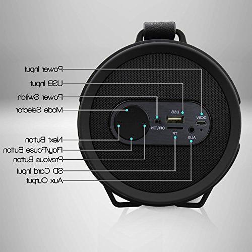 Pyle Portable Speaker, Bluetooth Surround Sound, Amplifier, Hi-Fi Active Stereo Speaker System Black