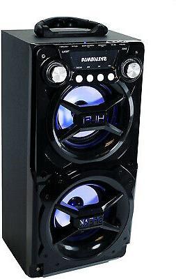 Portable Bluetooth Speaker System Big Led Stereo Light Up Ta