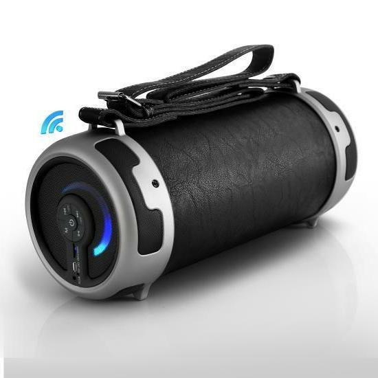 portable bluetooth wireless boombox stereo system built