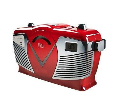 Sylvania Portable with AM/FM Style, Red