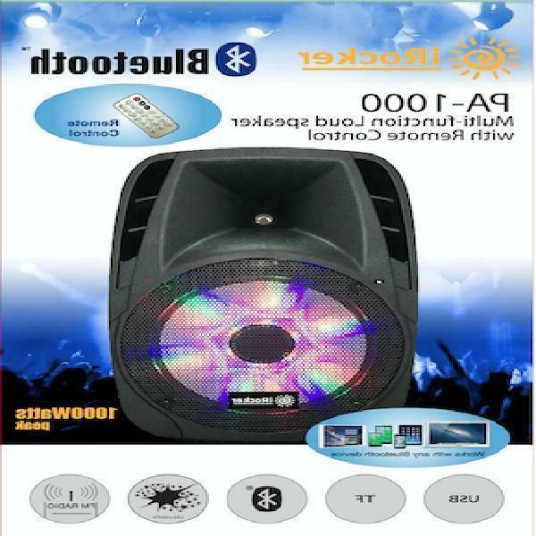 "Portable Loud 1000W Bass Stereo 12"" USB Wireless"