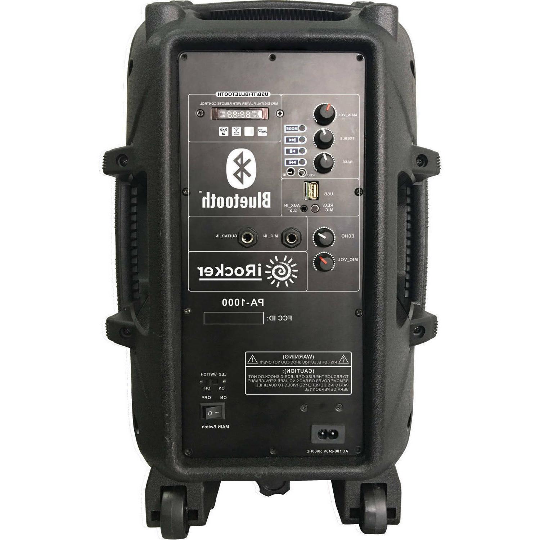 portable loud speaker 1000w bass stereo sound