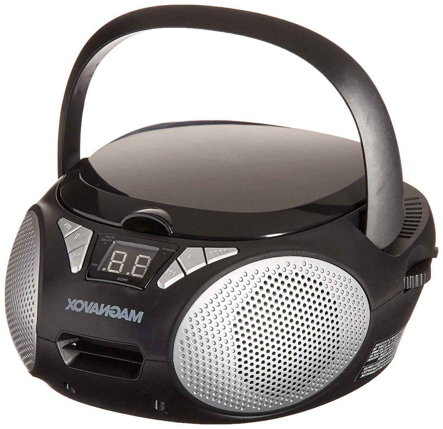 Portable Stereo Cd Rw Music Player With Cassette And Am Fm R