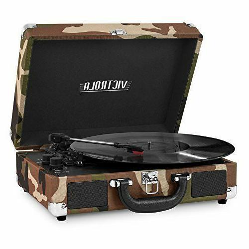 portable victrola suitcase record player