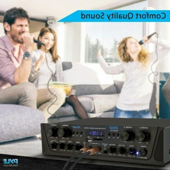 Pyle 4-Ch. Bluetooth Amplifier with FM